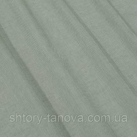 Тюль батист, однотонный зелёно-оливковый