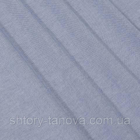 Тюль батист, однотонный тёмно-голубой