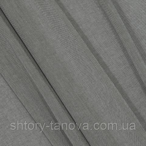 Тюль батист, однотонный серо-коричневый