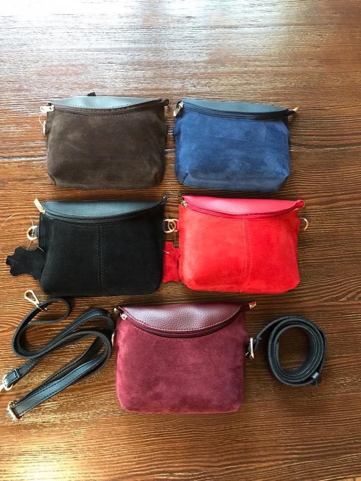 Модные поясные сумки женские из замши