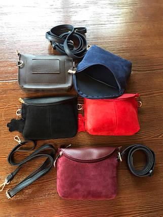 Модные поясные сумки женские из замши, фото 2