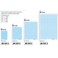 Бумага масштабно-координатная А2 (600Х400ММ) 10 листов МК2110 голубой