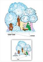"""Декорация  дерево """"Лес зимний"""""""