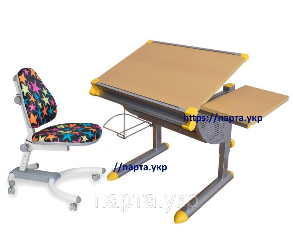Детский Стол - парта KD-1122 и Кресло Comf-Pro K-639, разные цвета