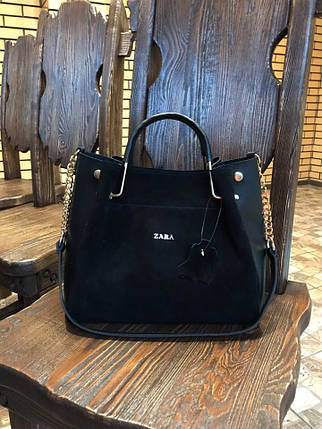 Женские сумки кожа+замша, фото 2