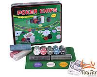 Набор для покера 500 фишек в металлической коробке