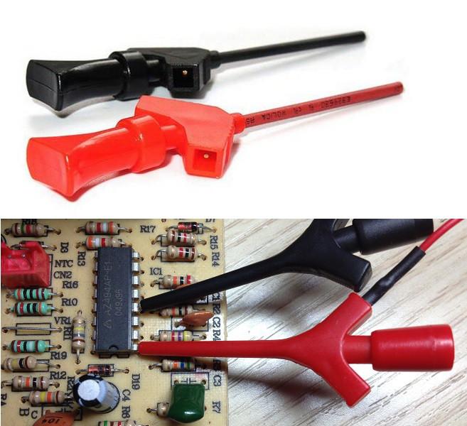 2x Тестовая клипса под Dupont кабель, зажим для PCB, SMD, IC (2 штуки