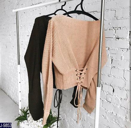 Свободный вязаный свитер, фото 2