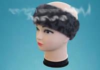 Женская зимняя повязка на голову хорошего качества плотная, фото 1