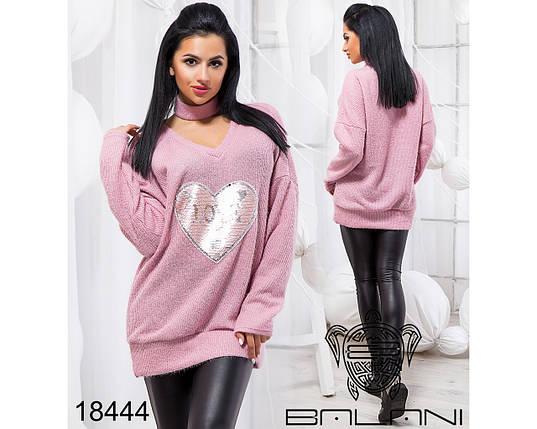 Ангоровый свитер женский оверсайз, фото 2