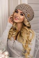 Женская шапка крупная вязка Марена в разных цветах