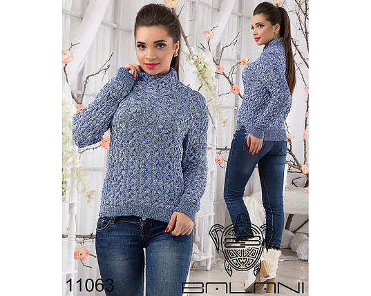 Теплый вязаный свитер, фото 2