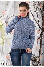 Теплый вязаный свитер, фото 3