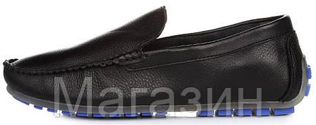 Мужские кожаные мокасины Clarks Classic Moccasin Black Кларкс черные, фото 2