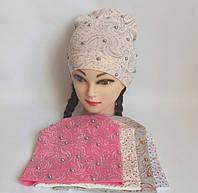 Детская шапка для девочки 95% котон р 52