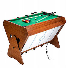 """Игровой стол """"Vortex 3-в-1"""" - мини бильярд, настольный футбол, аэрохоккей, фото 2"""