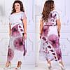 Длинное летнее платье  больших размеров 50+ с принтом / 2 цвета арт 6294-504, фото 3