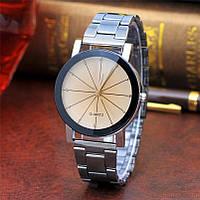 Женские часы Classic beige с металлическим браслетом, жіночий наручний годинник, кварцевые часы