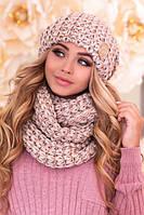 Комплект «Космея» шапка и шарф-снуд  в разных цветах