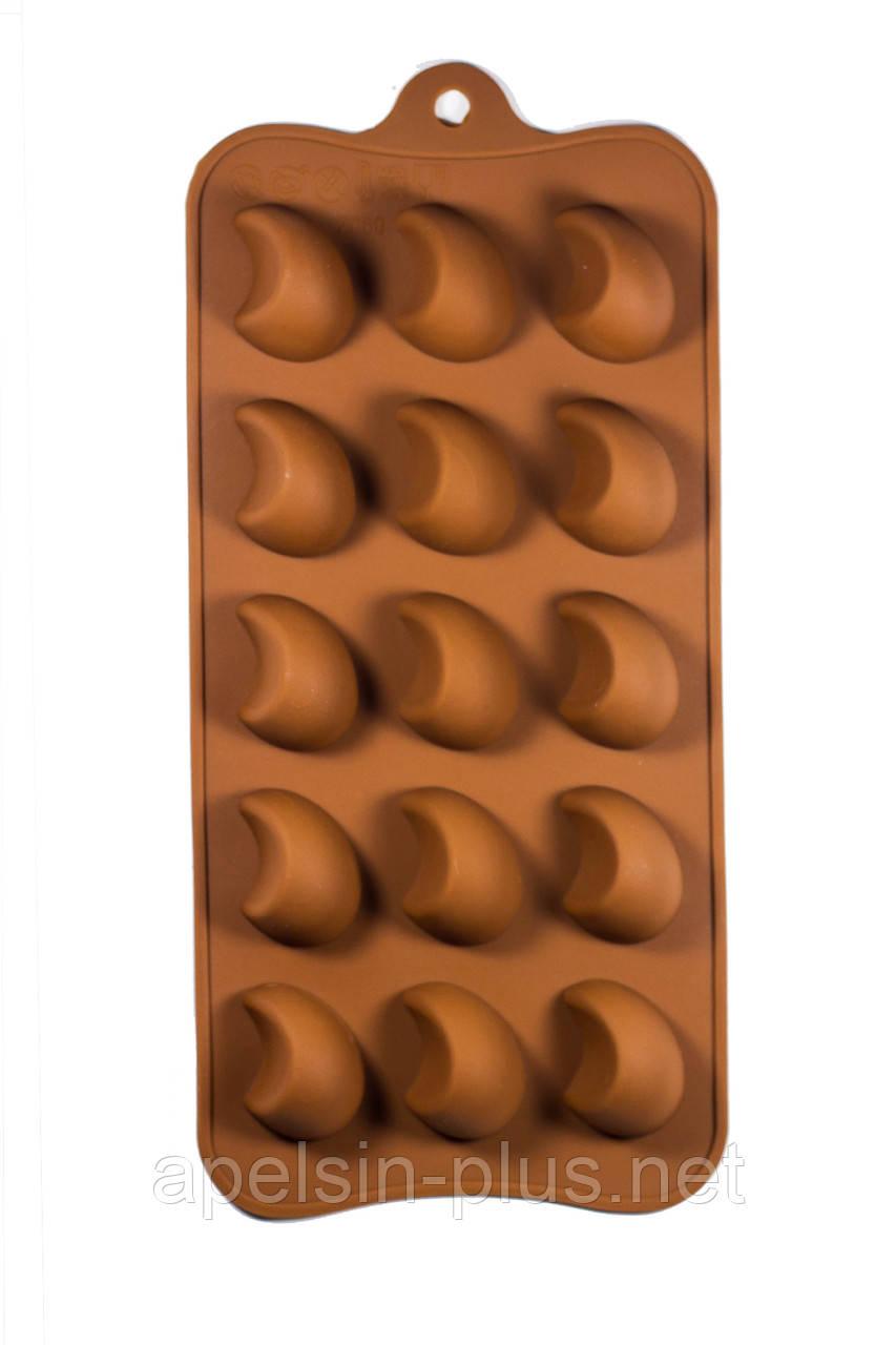 """Силиконовая форма для конфет """"Шик"""" на 15 ячеек"""