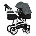 Универсальная коляска-трансформер серая Carrello Fortuna 9001 Shade Grey деткам от рождения до 3 лет, фото 2