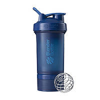 Blender Bottle, Спортивный шейкер BlenderBottle ProStak Navy, 650 мл