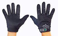 Мотоперчатки текстильные с закрытыми пальцами FOX BC-4641-BK (р-р M-L, черный)
