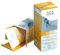 Водостойкий солнцезащитный крем SPF 20 Eco Cosmetics.