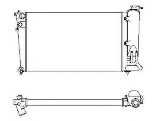 Радиатор охлаждения Citroen ZX 1993-2002 (1.6-1.8D 1.9D) 1993-2002 610*360мм по сотах KEMP