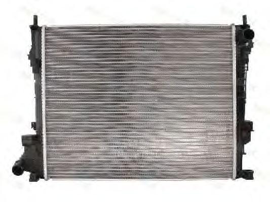 Радиатор охлаждения Opel Vivaro 2006- (2.0 CDTI) круглые соты KEMP