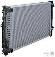Радиатор охлаждения Audi A6 1996-2004 (1.6-2.3 АКП) 630*412мм по сотах KEMP