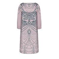 Faberlic женское Платье из атласа с принтом и стразами цвет темно-лиловый размер 40 42 44 46 48 50 52 54 56 by Valentin Yudashkin 037W4103 арт 85936