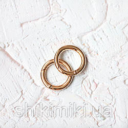 Кольцо -карабин KK01-3 (25mm),цвет золото