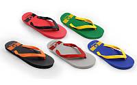 Вьетнамки пляжные мужские MX99 (р-р 10-13, RUS-40-44, резина, EVA, цвета в ассортименте)