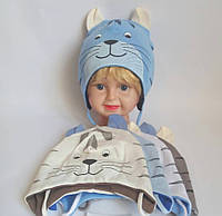 Дитяча шапка для хлопчика 95% котон р 48-50