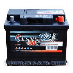 Акумулятор автомобільний Black Max 62AH R+ 580A