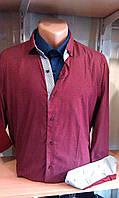 Мужская рубашка с длинным рукавом стрейч приталенная DERGI Одесса