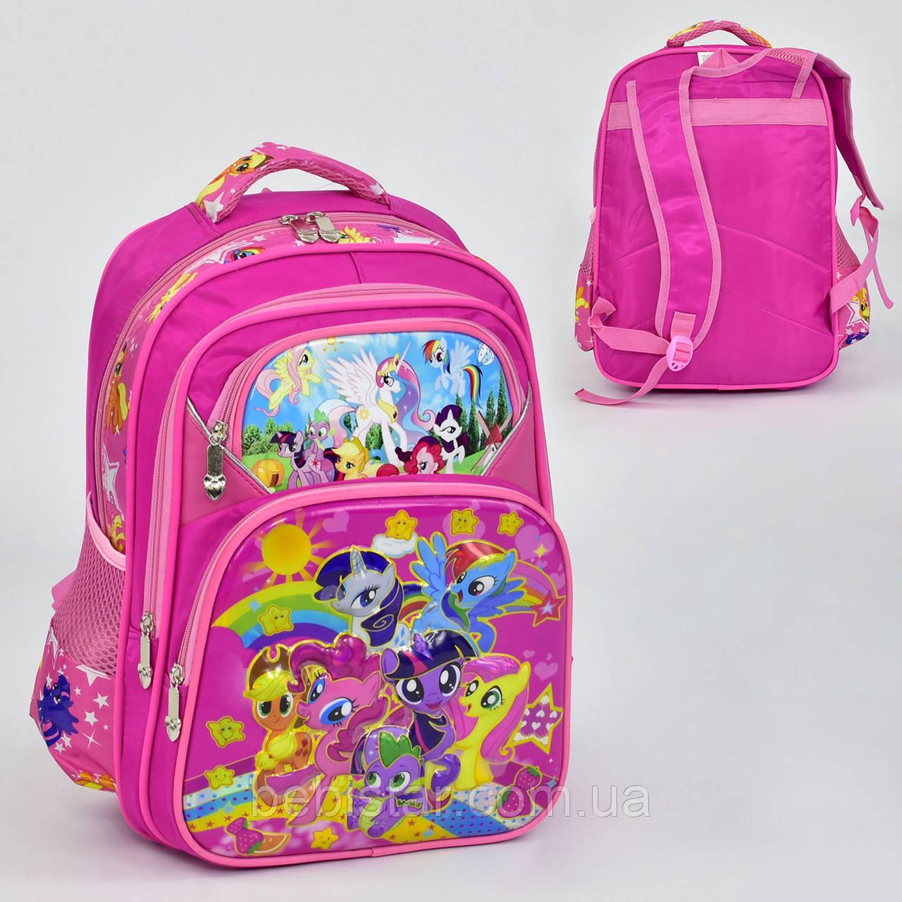Шкільний рюкзак 5 кишень з 3D зображенням Поні
