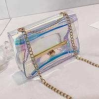 Оригинальная прозрачная сумка на цепочке, цвета в наличии, фото 1