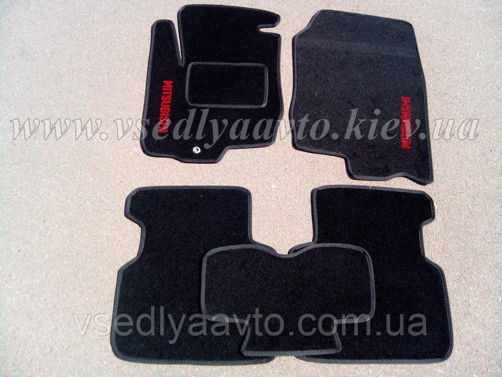 Ворсовые коврики MITSUBISHI Colt 5-дверка (Черные)
