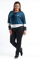 Спортивный костюм: кофта с декором на груди и штаны