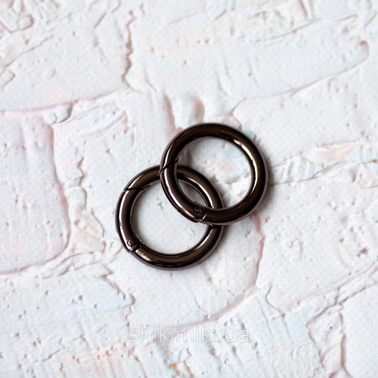 Кольцо-карабин КК01-2 (25 мм), цвет темный никель