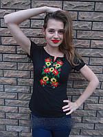 """Вышитая женская футболка  """"Дорожка"""" 135 (Л.Л.Л)"""