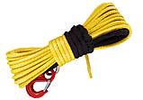 Кевларовый трос для лебедки с крюком 12.5мм 30м, фото 3