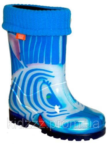 Детские резиновые сапоги Twister HH Голубая зебра Demar (Демар)