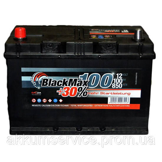 Аккумулятор автомобильный Black Max Asia 100AH L+ 850A
