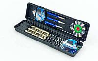 Дротики для игры в дартс цилиндрические BL-3500 Baili (сталь,вес 22гр,3шт.,+3хвост,+6опер, футляр)