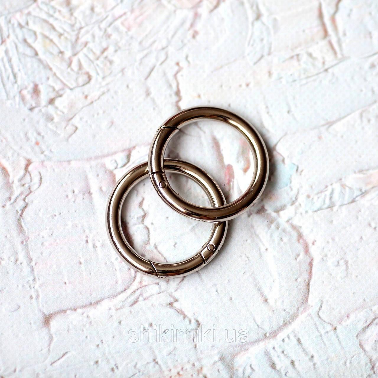 Кольцо-карабин KK03-1 (30 мм), цвет никель