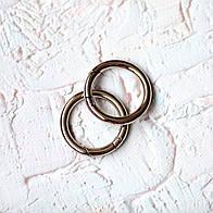 Кольцо-карабин КК03-1 (30 мм), цвет никель