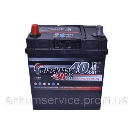 Аккумулятор автомобильный Black Max Asia 40AH L+ 380A